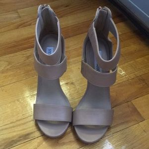 Steve Madden Nude Strappy High Heels